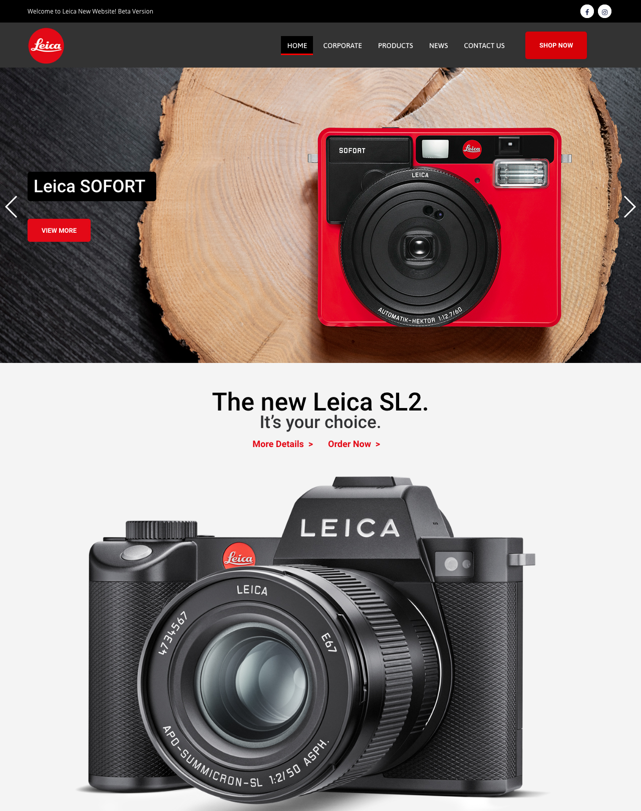 Leica-camera-website